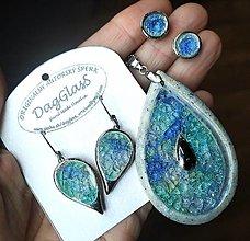 Náhrdelníky - Keramický šperk - Kvapka mora - 12784646_