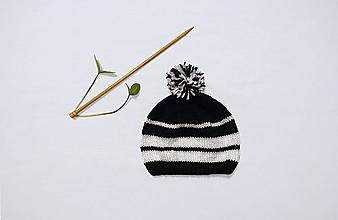 Detské čiapky - Detská pletená čiapka - 12786117_