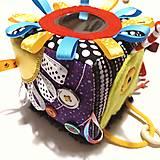 Hračky - Senzomotorická kocka - 12784426_