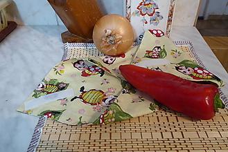 Úžitkový textil - lienkový desiatový obrúsok - 12784501_