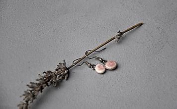 Náušnice - Náušnice ružovo fialový  kruh - 12786175_