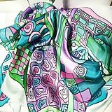Šatky - Hodvábna šatka Desigual pastels - 12788306_