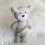 Hračky - béžový macko s čokoládovými nohavicami - 12789451_