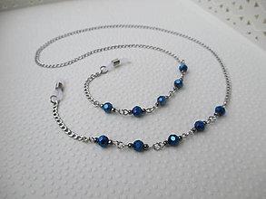 Iné šperky - Retiazka na okuliare - tmavomodro/šedá - chirurgická oceľ - 12789083_