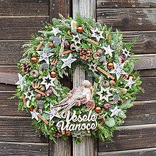 Dekorácie - Vianočný veniec zo živej čečiny - 12788347_