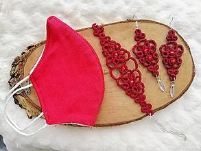 Sady šperkov - Čipkový bordový set - 12789032_