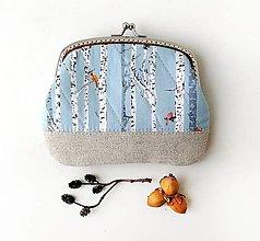 Peňaženky - Peňaženka XL Vtáčiky na brezách - 12788162_