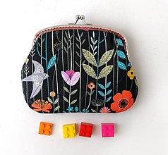 Peňaženky - Peňaženka XL Nočná lúka - 12789019_
