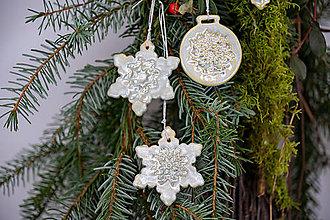 Dekorácie - Vianočné vločky - 12790455_