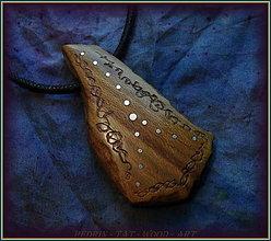 Náhrdelníky - 585. Dřevěný náhrdelník  SLIVOŇKA  -  stahovací - 12790052_