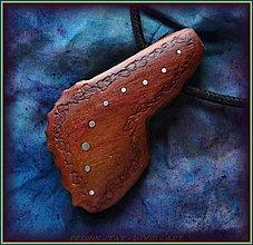 Náramky - 589. Dřevěný náhrdelník  SLIVOŇKA  -  stahovací - 12790064_