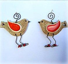 Dekorácie - Keramický vtáčik na zavesenie - 12790784_