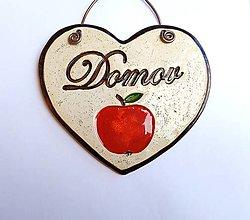 Dekorácie - keramická dekorácia srdce - Domov - 12790947_