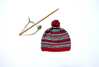 Detské čiapky - Detská pletená čiapka - 12791769_