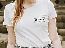 Tričká - lebo medveď - unisex biele tričko - 12790008_