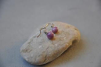 Náušnice - Náušnice v ružovo fialová guľôčka - 12791320_