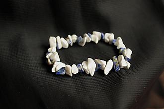 Náramky - Náramok Magnezit a Lapis Lazuli - 12791048_