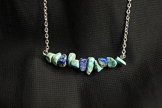 Náhrdelníky - Náhrdelník Tyrkys a Lapis Lazuli - 12791065_