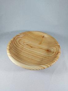 Nádoby - drevená plitká miska zo smrekovca opadavého - 12793000_