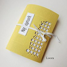 Papiernictvo - Zápisník Žltý vlnitý A6 - 12793424_