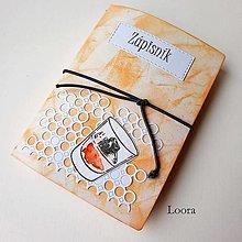 Papiernictvo - Zápisník Cognac A6 - 12793433_