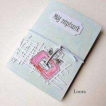 Papiernictvo - Zápisník Mint parfém A6 - 12793455_