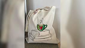 Nákupné tašky - ♥ Plátená, ručne maľovaná taška ♥ - 12794482_