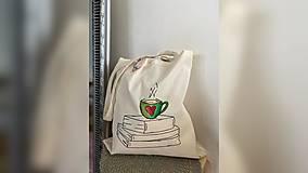 Nákupné tašky - ♥ Plátená, ručne maľovaná taška ♥ - 12794486_