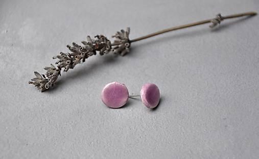 Napichovacie náušnice fialovo ružové