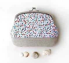 Peňaženky - Peňaženka XL Malé farebné bodky - 12792806_