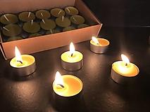 Svietidlá a sviečky - Sviečky zo včelieho vosku- sada ČAJOVÝCH SVIEČOK 30ks - 12793980_