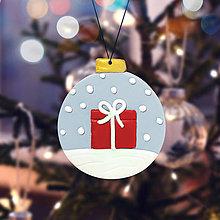 Dekorácie - Vianočná guľa nasnežilo - vianočný darček (ozdoba) - 12793119_