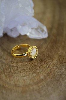 Prstene - prsteň citrín v striebre (pozlátené striebro) - 12794839_