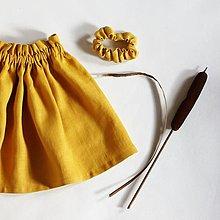 Detské oblečenie - detská ľanová suknička SLNIEČKO - 12796740_
