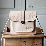 Kožená kabelka Floral crossbody satchel