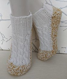 Obuv - Dievčenské krátke ponožky - 12795058_