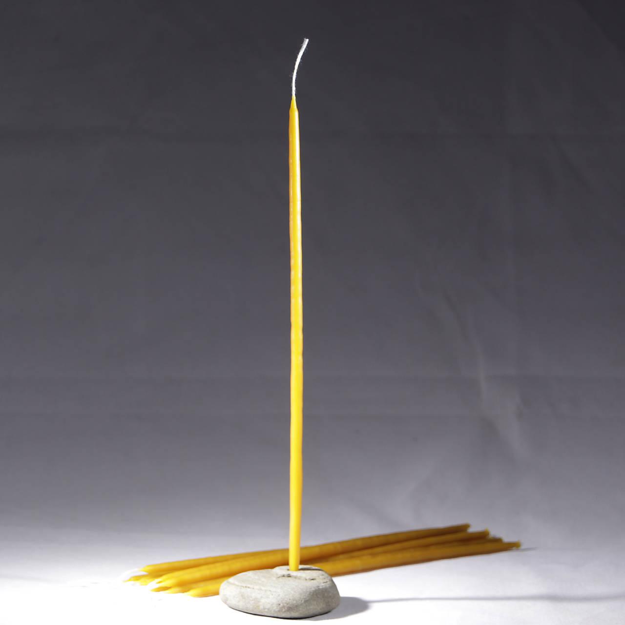 Vysoké, ešte tenšie, máčané Sviečky z včelieho vosku - 10 ks v darčekovej krabičke
