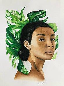 """Kresby - Botanické ArtDeco limitovaná edícia """"Beauty&Monster(a)"""" - 12794986_"""