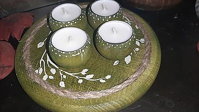 Svietidlá a sviečky - ...chalupársky v zelenom - 12796462_