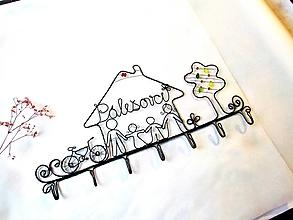 Nábytok - Rodinný vešiak(s bicyklom) - 12794697_