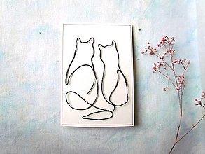 Papiernictvo - pohľadnica Mačky - 12795621_