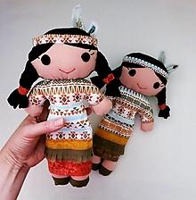 Hračky - Textilná bábika - Indiánka Brezový Lístok - 12797751_