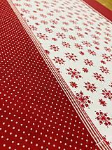 Úžitkový textil - Štola- Vločky - 12798465_