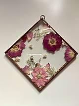 Dekorácie - Nástenná dekorácia so sušenými kvetmi - 12797385_