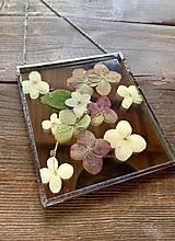 Dekorácie - Nástenná dekorácia so sušenými kvetmi - 12797413_