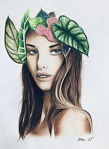 "Kresby - Botanické ArtDeco ""Fairy  Beauty Queen"" - 12797070_"