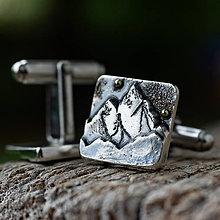 Iné šperky - Mužské doplnky ... /Láska hory prenáša/ - 12800243_