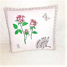 Úžitkový textil - VANKÚŠ RUŽE - 12799437_