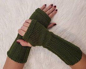 Rukavice - Pletené návleky na ruky - 12799045_
