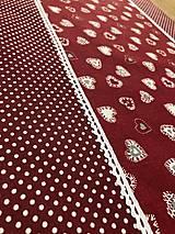 Úžitkový textil - Štola- Srdiečka - 12800102_
